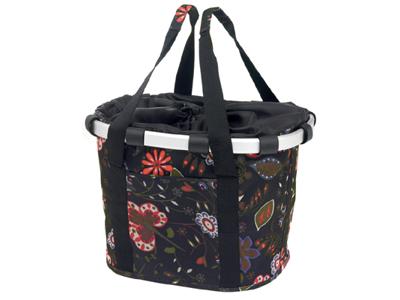 Klickfix - Reisenthel - Sort med blomster 15 liter
