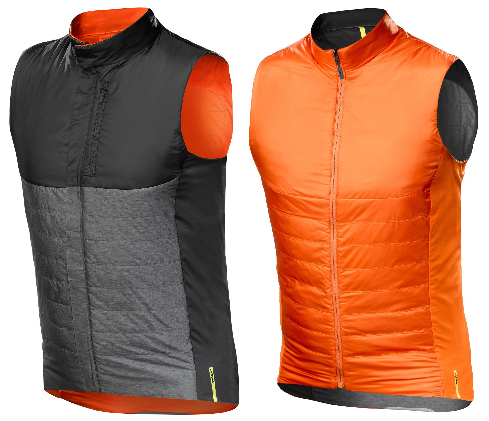 Mavic Allroad Insulate Vest - Primaloft cykelvest - Vendbar - Grå, Sort, Orange | Vests
