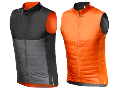 Mavic Allroad Insulate Vest - Primaloft cykelvest - Vendbar - Grå, Sort, Orange