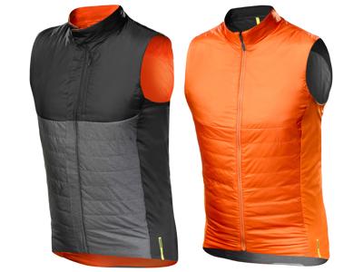 Mavic Allroad Insulate Vest - Primaloft cykelvest - Vendbar - Grå, Sort, Orange