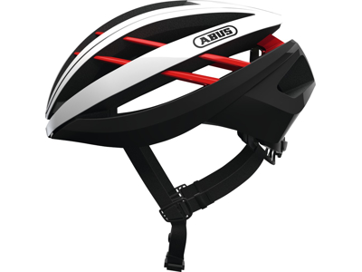 Abus Aventor - Cykelhjelm - Hvid / sort / rød