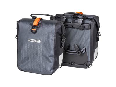 Ortlieb Gravel-Pack - Cykelväskor - 2 x 12,5 liter - Grå/Svart
