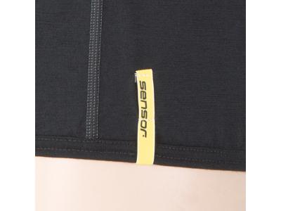 Sensor Merino Active - Uld T-shirt med korte ærmer - Herre - Sort