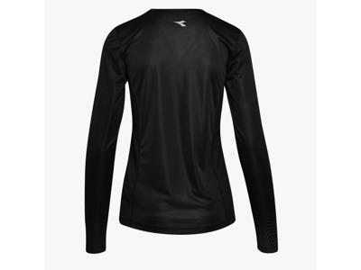 Diadora L. X-Run LS T-Shirt - Lange Ærmer Dame - Sort