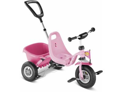 Trehjulet cykel Puky med lad og skubbestang - Farve: Lillifee