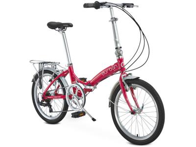 """Durban Rio UP - 20\"""" Hopfällbar cykel med 7 Shimano växlar - Röd"""