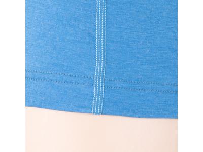 Sensor Merino Active Tee LS Zip - Uldundertrøje med høj hals - Dame - Blå