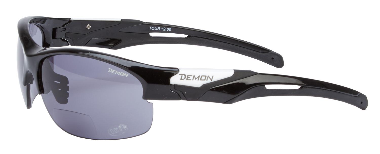 Demon Tour - Løbe- og cykelbrille med læsefelt - Smoke linse - sort   Glasses
