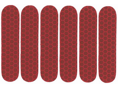 Refleks ark med 6 stk. Rød