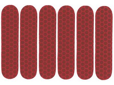 Ark med 6 st. Reflexer Röd