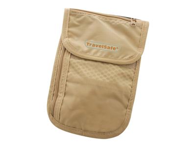 TravelSafe CheckOut - Väska till pengar med blixtlås - Sandfärgad