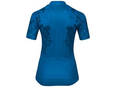 Odlo Element Print - Cykeltrøje med korte ærmer - Dame - Blå