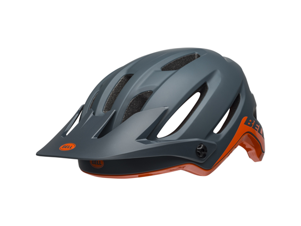 Image of   Bell 4Forty Mips - Cykelhjelm - Str. 59-63 cm - Mat-Glans Grå/Orange
