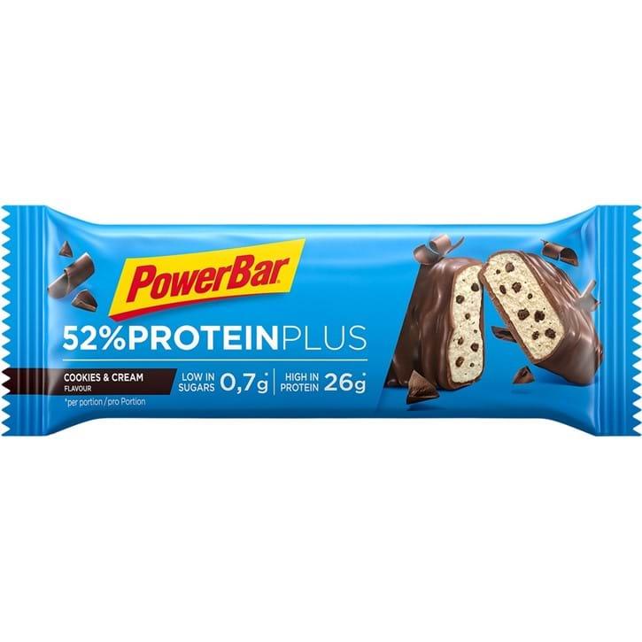 Powerbar 52% Proteinplus - Cookies & Cream 50 gram   Proteinbar og -pulver