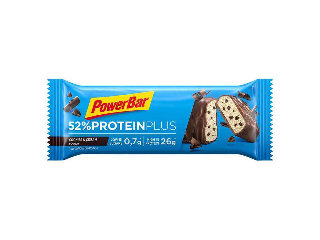 Image of   Powerbar 52% Proteinplus - Cookies & Cream 50 gram