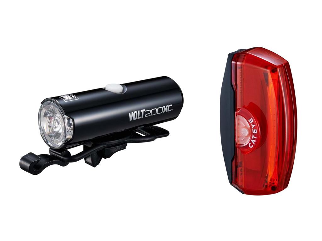 Cateye Volt200XC + Rapid X3 - Lygtesæt - USB opladelig