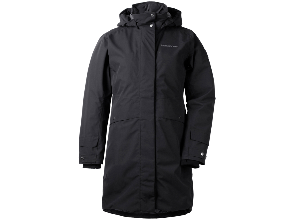 Image of   Didriksons Eline Womens Parka - Vandtæt damejakke m. for - Sort - Str. 42