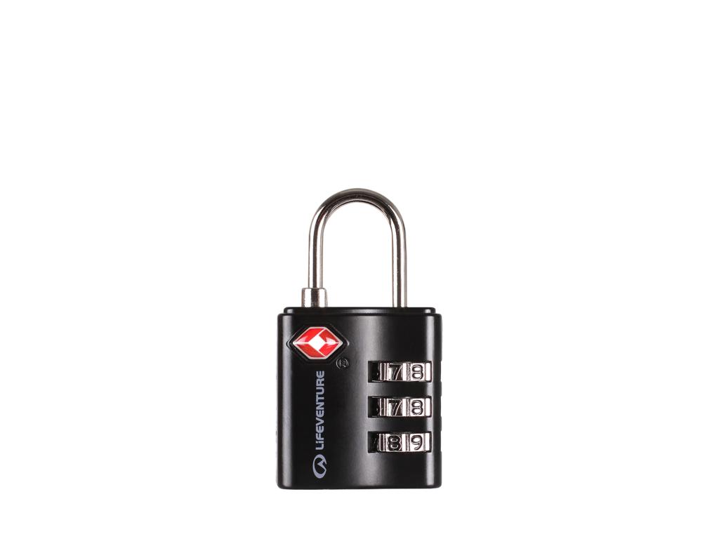 LifeVenture TSA Combi Lock - Hængelås kode - Sort