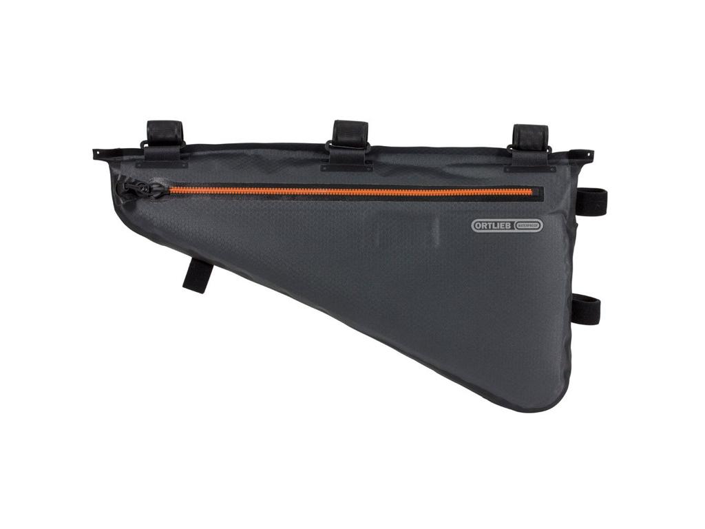 Ortlieb Frame-Pack - Bike Packing Steltaske - Str. L - 6 Liter - Grå/sort