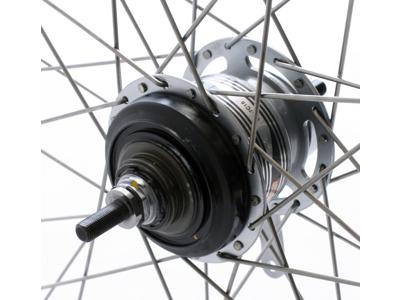 Bakhjul 700c med Shimano nexus 7 växlar och fotbroms