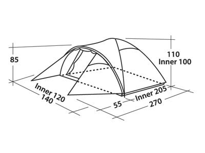 Easy Camp Telt Quasar 200 - Telt - 2 Personer - Grøn