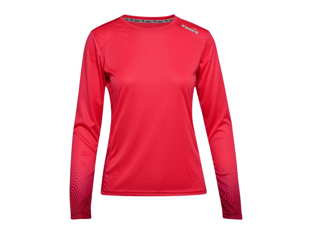 Image of   Diadora L. X-Run LS T-Shirt - Lange ærmer t-shirt - Dame - Rød - Str. L