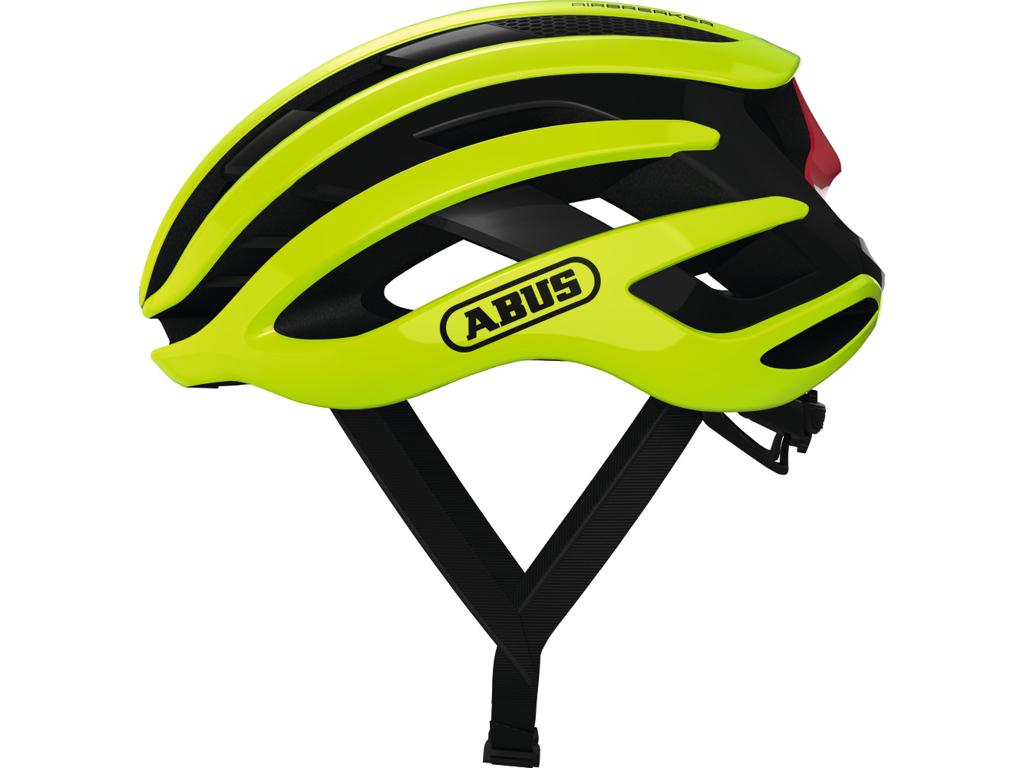 Image of   Abus AirBreaker - Cykelhjelm - Neon gul - Str. 51-55cm