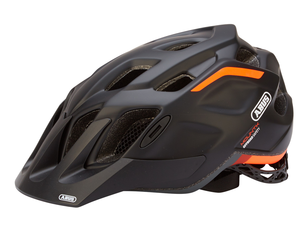 Image of   Abus MountK - Cykelhjelm - Orange/sort - Str. 53-58cm