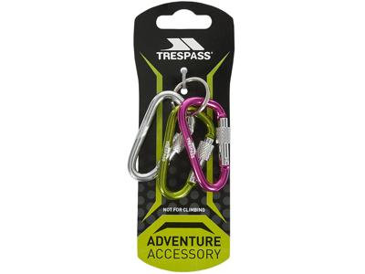Trespass Lock X - Nøgleringssæt -  3 karabinhager