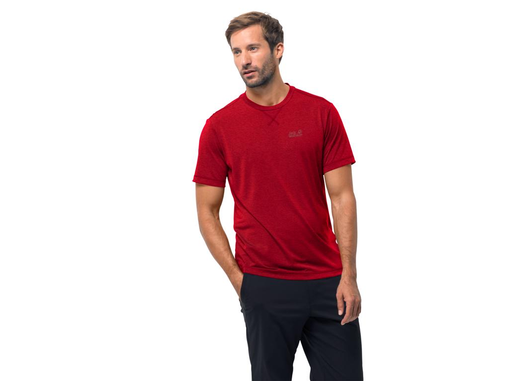Jack Wolfskin Crosstrail T T skjorte Menn Rød (NOK 219,00)