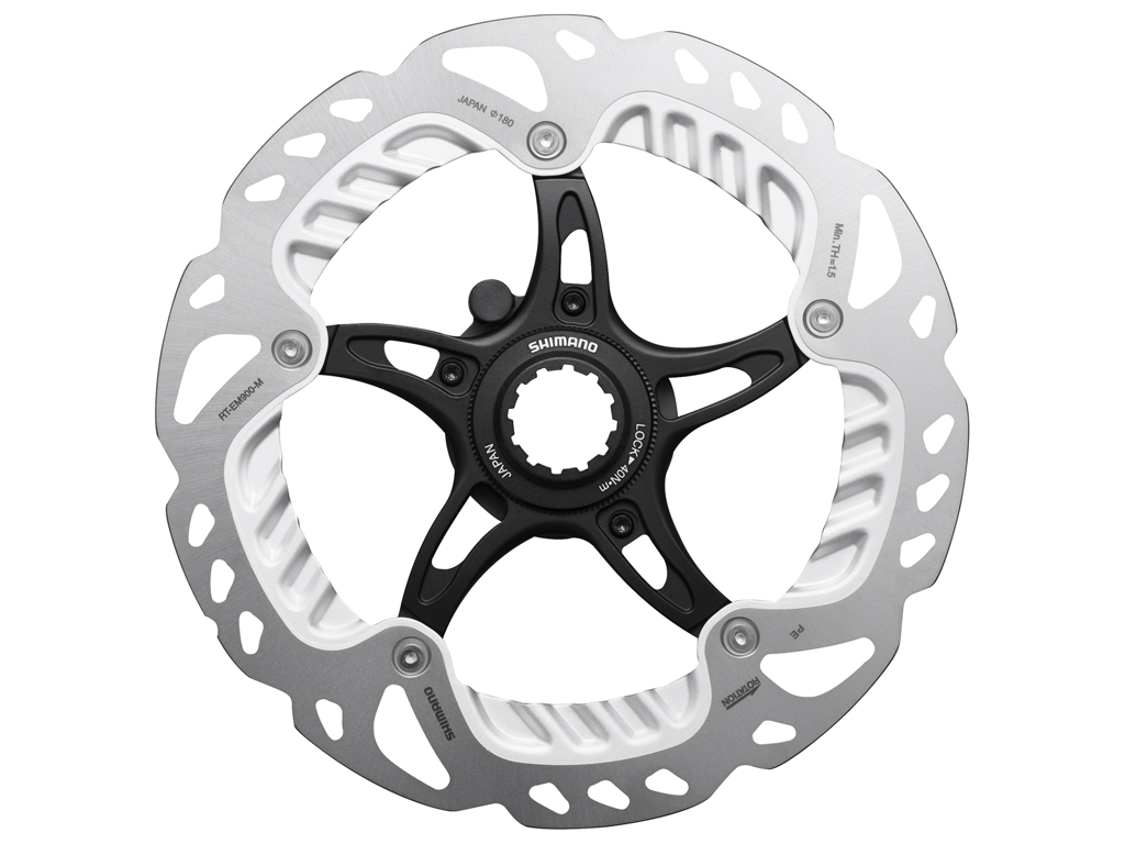 Image of   Shimano Ice-Tech RT-EM900 - Rotor 180 mm med Ice-Technologi og Freeza - Til Center lock