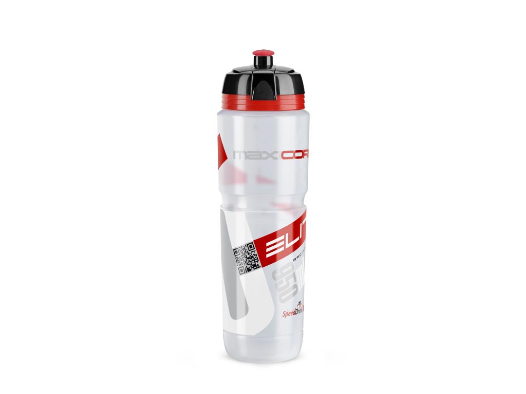 Image of   Elite Corsa - Drikkeflaske 950ml - 100% Biologisk nedbrydelig - Klar/Rød