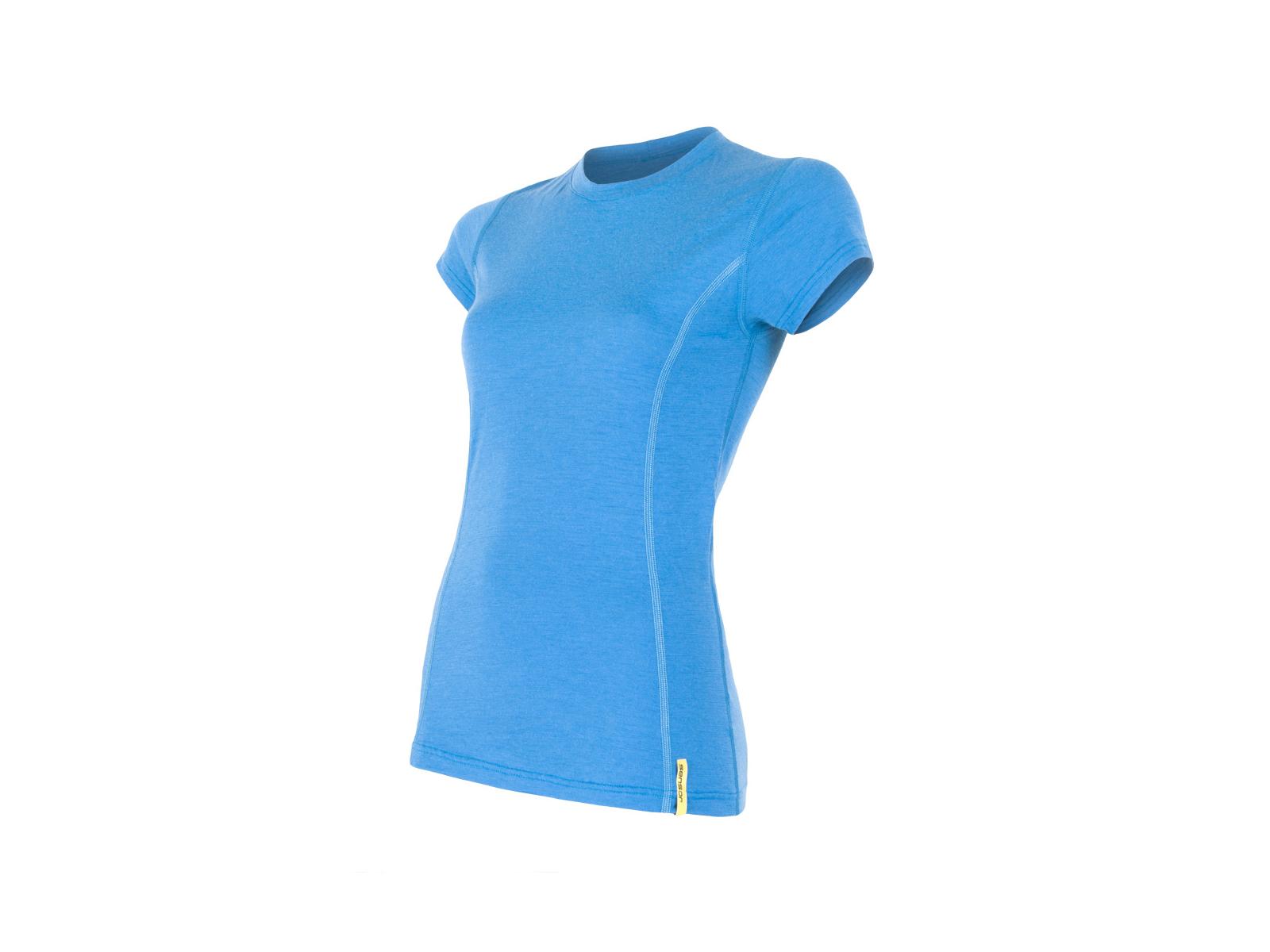 Sensor Merino Active Uld T shirt med korte ærmer Dame Blå (DKK 257,40)