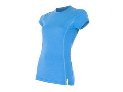 Sensor Merino Active - Uld T-shirt med korte ærmer - Dame - Blå - Str. L