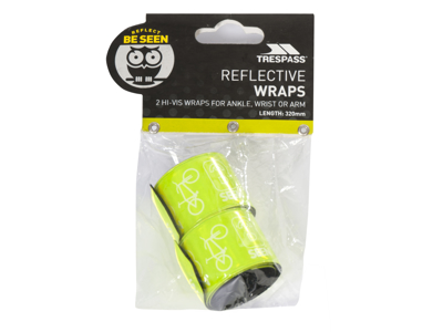 Trespass Snapper - Reflexband - Slap wrap - Hi-vis grön - 32 cm - 2 stk.