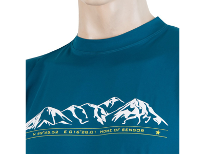 Sensor Coolmax Fresh PT Mountain - T-shirt med korte ærmer - Blå