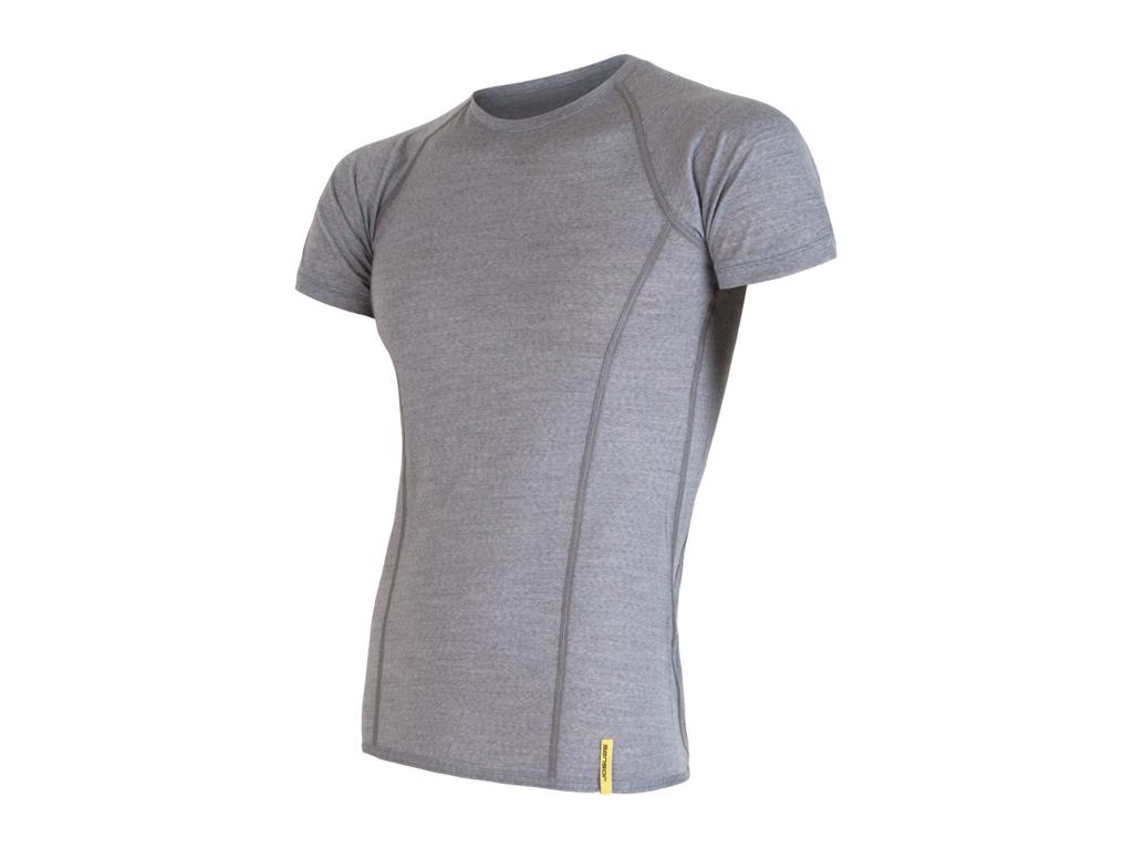 Sensor Merino Active - Uld T-shirt med korte ærmer - Herre - Grå - Str. S thumbnail