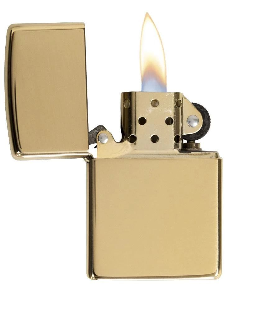 Zippo High Polish Brass - Lighter - Poleret messing | polish_and_lubricant_component