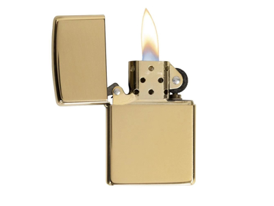 Zippo High Polish Brass - Lighter - Poleret messing