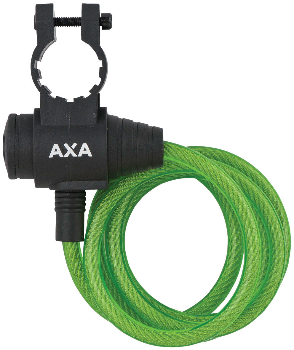 Axa - Zipp - Spirallås - 1200x8mm - Med nøgle - Grøn | Combo Lock