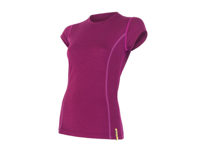 Sensor Merino Active - Uld T-shirt med korte ærmer - Dame - Lilla - Str. S