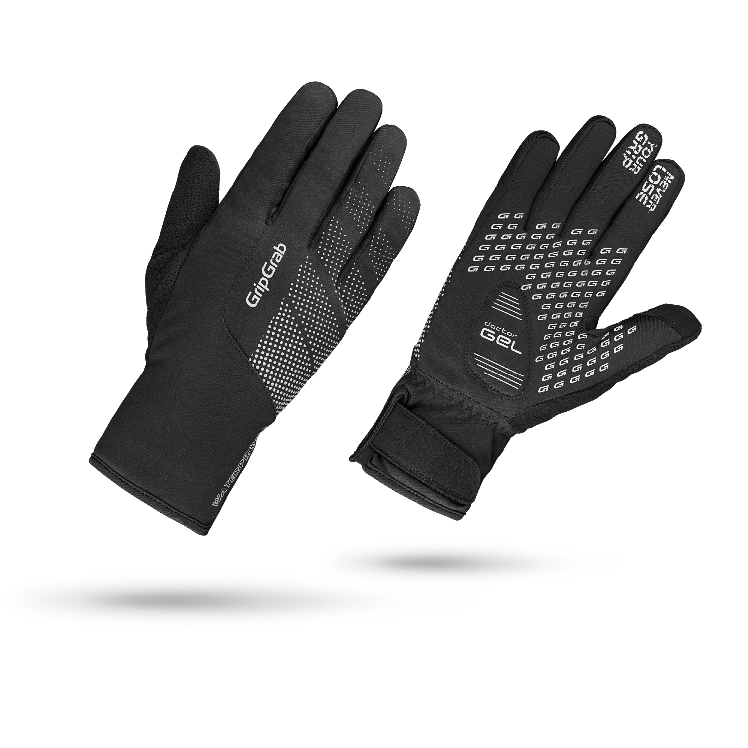 GripGrab Ride Waterproff - Vind og vandtæt vinter cykelhandske - Sort | Gloves
