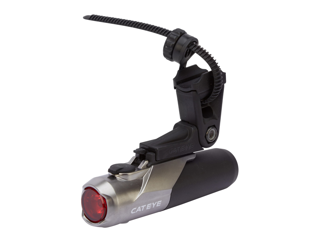 Image of   Cateye - Baglygte - 50 lumen - HL-EL460RC USB - Sort/sølv