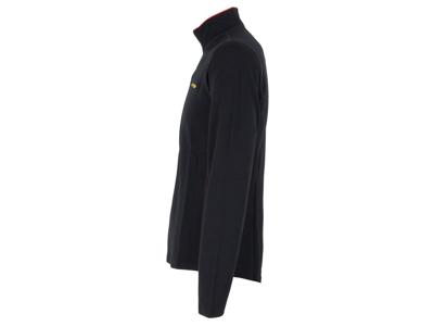 Sensor Merino Fleece Sweatshirt - Herr - Blixtlås i halv längd - Svart