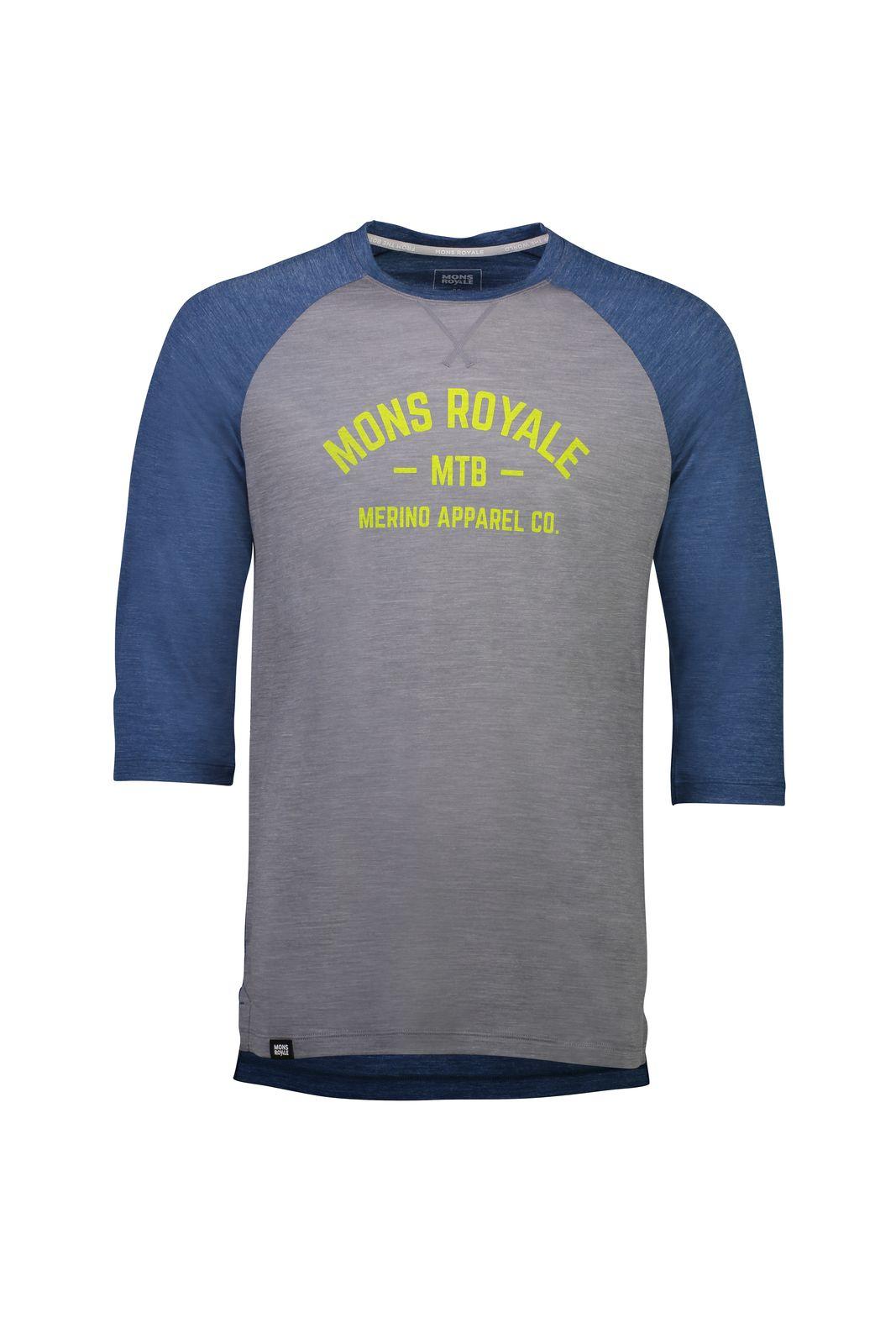 MONS ROYALE Vapour Lite 3/4 - Cykeltrøje - Blå/Grå | Jerseys