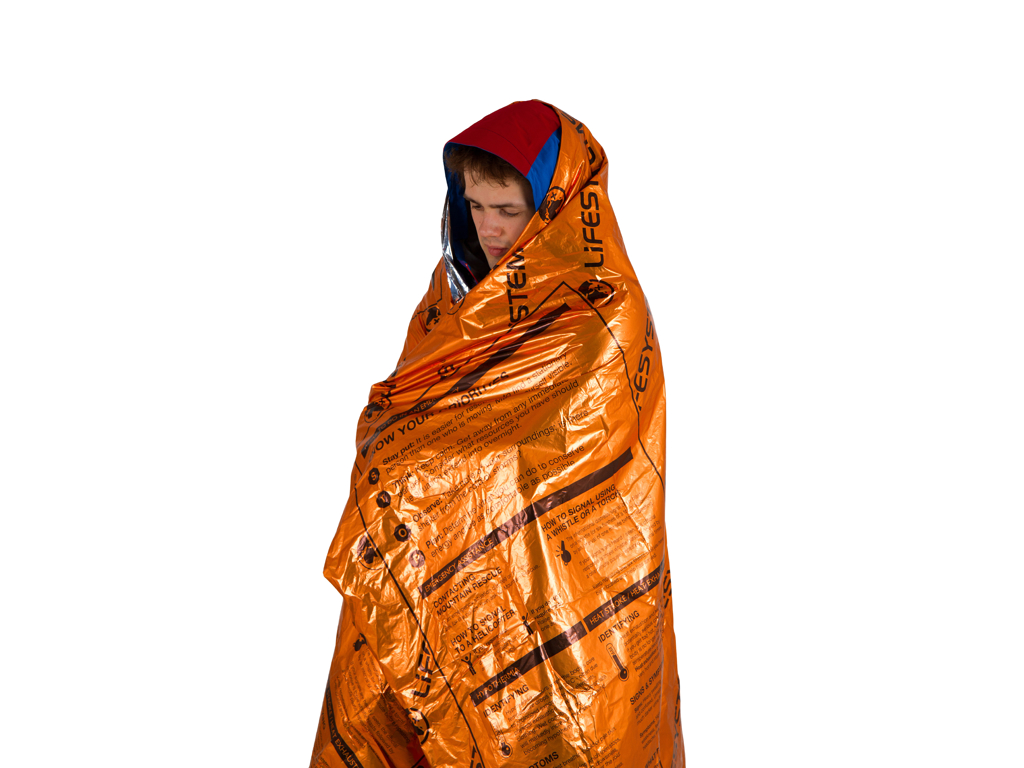 Image of   LifeSystems Heatshield Blanket - Redningstæppe - Enkelt - Orange