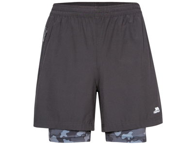 Trespass Patterson - Hr. Shorts med indershorts - Sort