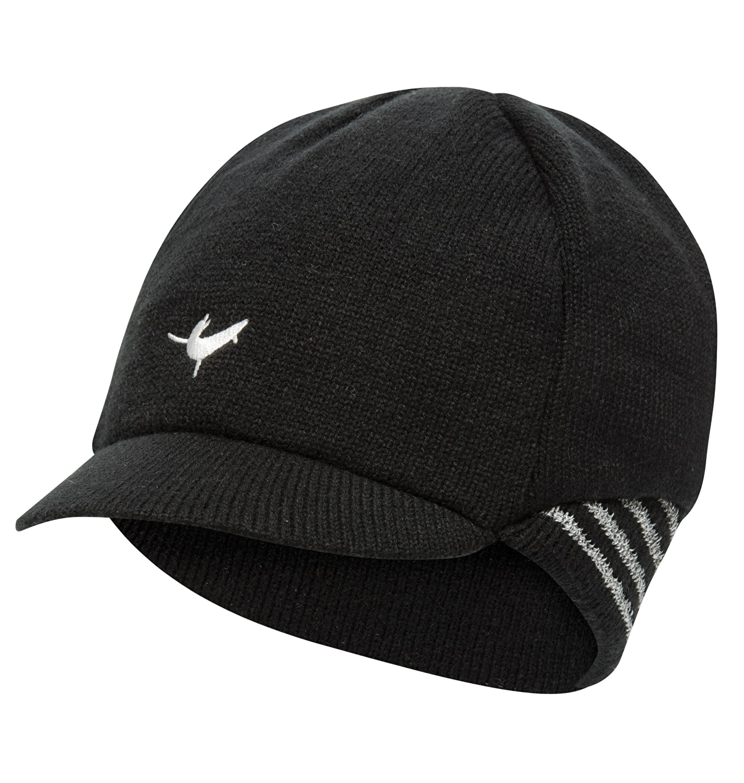 Sealskinz Belgian Style Cap - Vintercykelkasket - Sort/hvid | Hovedbeklædning