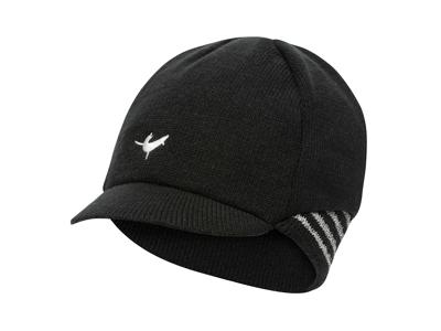 Sealskinz Belgian Style Cap - Vintercykelkeps - Svart/vit