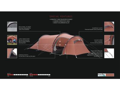 Robens Pioneer 3EX - Telt - 3 Personer - Rød
